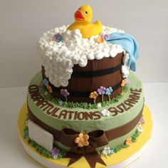 Rubber Ducky baby shower cake!