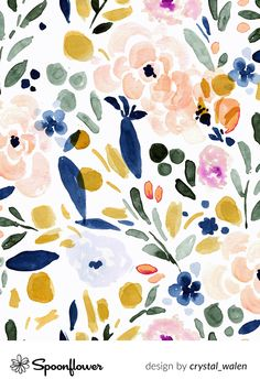 Customize your space with wallpaper, home decor and fabric in your favorite designs, all printed with eco-friendly inks and handmade in the United States. #watercolor #flowers #digitalprinting #fabric #textiledesign #homegoods