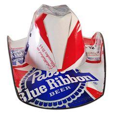 Pabst Blue Ribbon Brewing Company Beer Box Traditional Cowboy Hat