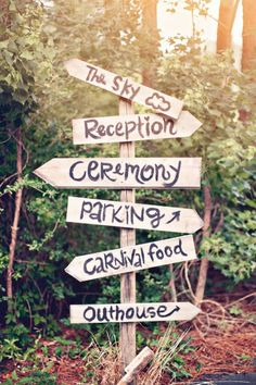 find this pin and more on wedding events directional sign