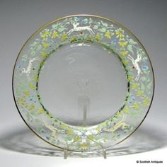 Paire-de-victorian-moser-emaille-plaques-de-verre-par-sal-039-viati-c1900