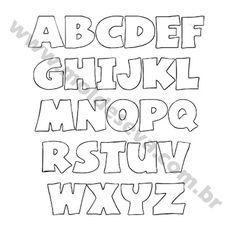Goma eva letras moldes - Imagui