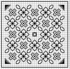 BLACKWORK-esquemas for pincushions