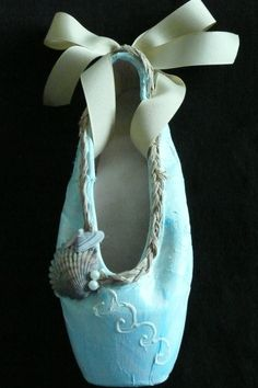 Decorative pointe shoe  seashell by PointePerfection1 on Etsy, $15.99