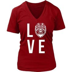 Show how proud you are with your profession wearing Love Police. Check more Police related t-shirts. If you want different color, style or have idea for design contact us we can help you! support@teel