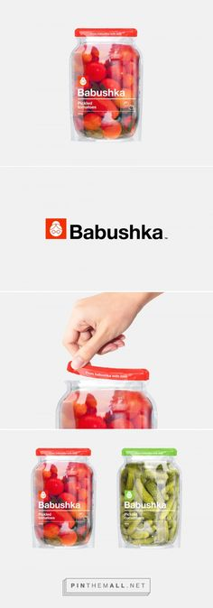 Babushka pickles packaging in doy pack - design concept by Wunderbar - http://www.packagingoftheworld.com/2017/05/babushka-concept.html