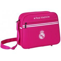 Bolso bandolera Real Madrid tamaño grande  Doble departamento Correa regulable Dimensiones: 37 x 29 x 12 cm Producto oficial