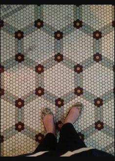 Penny floor pattern.