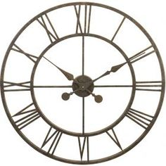 River City Clocks Indoor Antiqued Metal Skeleton Tower 30 in. Wall Clock - A combination of simple elegance and accurate timekeeping, the River City Clocks Indoor Antiqued Metal Skeleton Tower 30 in. Wall Clock will make.