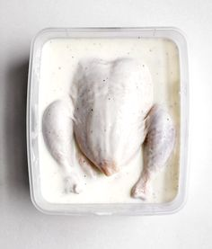 Master Buttermilk Brine - Bon Appétit This is amazing! Trying it with lemon dill next:-) Meat Recipes, Chicken Recipes, Dinner Recipes, Cooking Recipes, Recipies, I Love Food, Good Food, Yummy Food, Buttermilk Chicken Marinade
