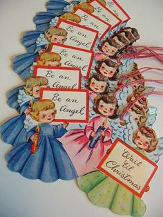 vintage Christmas gift tags....