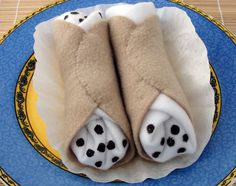 Squeaky Cannoli dog toy. $8.00, via Etsy.