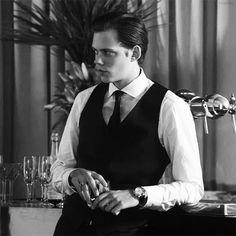 Bill Skarsgard as Roman Godfrey.  Hemlock Grove.