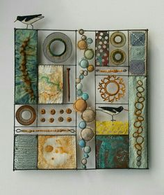 Best 12 Liz Cooksey – Textile Artist – Work for Sale Textile Fiber Art, Textile Artists, Creative Textiles, Wire Crafts, Tapestry Weaving, Wire Art, Fabric Art, Collage Art, Arts And Crafts
