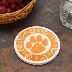 Clemson Tigers Single Swirl Coaster