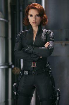 Scarlett Johansson as The Black Widow in The Avengers