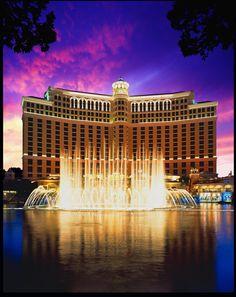 Bellagio Hotel & Casino.  Love the fountains.