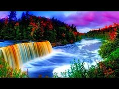 Beautiful Waterfall Free Background Video No Copyright Loop Animation 4K HD.all background video sk