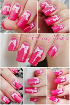 Very pretty nail design.