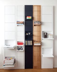 Foldable Furniture - Those looking for some space-saving options for their home decor will definitely want to check out these foldable furniture designs, which are perf. Folding Walls, Folding Furniture, Furniture Design, Small Space Living, Small Spaces, Tall Cabinet Storage, Locker Storage, Laundry Storage, Wall Mounted Shelves