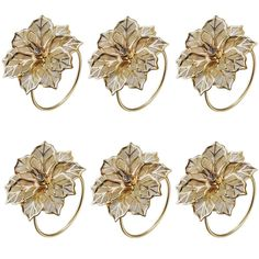 Derker Alloy Napkin Rings with Delicately Hollow out Flower Wedding Banquet Dinner Decor Favor?Pack of 6?Gold? *** Want to know more, click on the image.