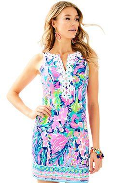 d2094fff7e84bd Lilly pulitzer GABBY SHIFT DRESS 00 $198 Multi Gumbo Limbo Engineered Gabby  Shift Resort Dresses,