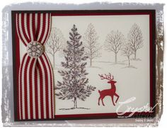 Using+Stampin+Up+Christmas+Cards | Stampin Up! Holiday 5 Card Kit using Lovely as a Tree, includes White ...
