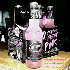 Another blogger participates in #pinkwashing by participating in a paid campaign by Mikes Hard Lemonade, not getting that alcohol & artificial colors contribute to increased cancer risk. #mymikesmoment