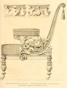 img/dessins meubles mobilier/fauteuil moderne en bois d'ebene - bronze dore avec details.jpg