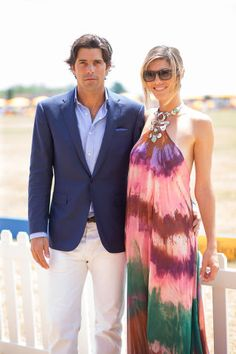 Nacho Figueras and Delfina Balquier in Pucci. See more looks from the Veuve Clicquot Polo Classic here.