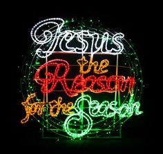 Jesus, God's gift to mankind Christmas Light motif display ...