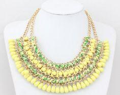 Llamativo collar Mujeres, Collar Chunky, Collar babero Collar Gargantilla Necklace