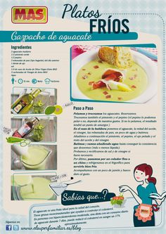 #Gazpacho de aguacate, nuestra nueva #Inforeceta, ¿te animas a probarlo? #recetas #infografias #recipes #infographics