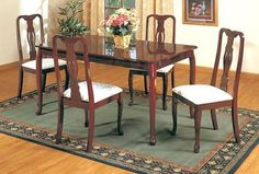 New Beautiful Set Of Two Queen Anne Cushioned Chairs by Poundex. $151.47. Some assembly may be required. Please see product details.. NEW SET OF TWO QUEEN ANNE CUSHIONED DINING CHAIRS. Save 31%!