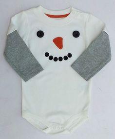Gymboree Penguin Pals Snowman Bodysuit Shirt Sz 6-12 Months NWT #Gymboree #DressyEverydayHoliday