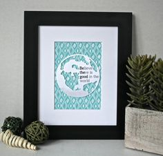 3D Turquoise Nursery Decor Teal Nursery Art Be by SweetieandRoo