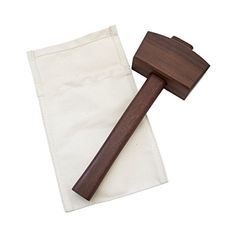 Durable Canvas Ice Bag And Wood Mallet Ice Crusher Handmade by Hide Drink Conacaste >>> Learn more by visiting the image link-affiliate link. Ice Bag, Ice Cream Maker, Fun Cocktails, Waxed Canvas, Handmade Design, Wood Grain, Thoughtful Gifts, Traveling By Yourself