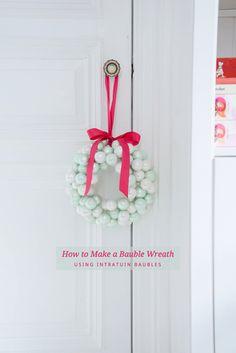A bauble wreath for Christmas