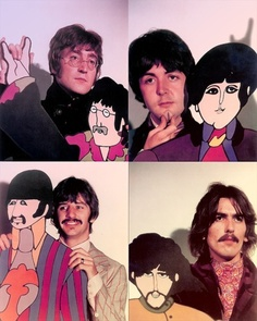 beatles and their cartoon selves