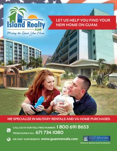 two real estate ads designed for guam island realty print advertising print ads