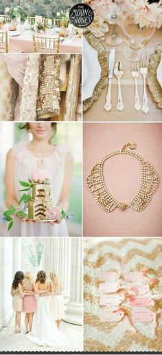 Wedding Motif - Blush, Gold and White