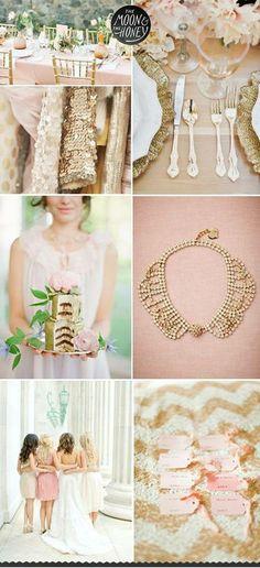 Wedding Motif - Blush, Gold and White