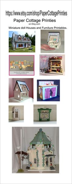 Doll House, Miniature, A Printable Paper Dollhouse in Quarter Scale - Sweet Home D Meubles A Telecharger