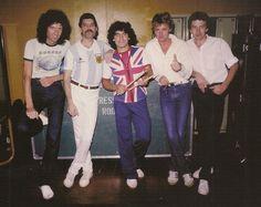Queen con Maradona.