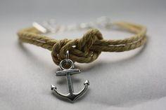 NASSAU  Anchor Bracelet Mooring Rope Bracelet by ilovecheesygrits.com on Etsy.