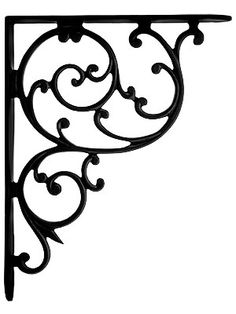 "elicate swirls spiraling inwards give this Victorian bracket a lacy feel. Despite the frail look it is very sturdy. Made of durable cast iron with a matte black finish.  Dimensions: 10 1/8"" H x 8"" L x 1 1/4"" W."
