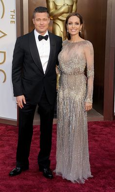 March 2014: The parents-of-six dazzled on the carpet at the 86th Annual Academy Awards.