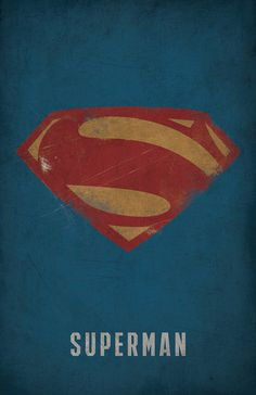 Superman Minimlist Poster - West Graphics