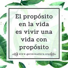 El propósito en la vida es vivir una vida con propósito 🌿✨ #germinadoradenegocios #mantra #negocios  #cdmx #hechoenmexico #diseñomexicano #mexicocreativo