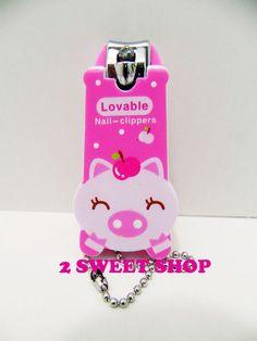 Now these are just sooooo adorable right? Kawaii Pig, Cute Kawaii Animals, Kawaii Cute, Nail Scissors, Nail Products, Harajuku, Hello Kitty, Tokyo, Nail Designs